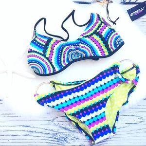 O'Neill • Dippin Dots Cross Back Bikini Hoop Set S